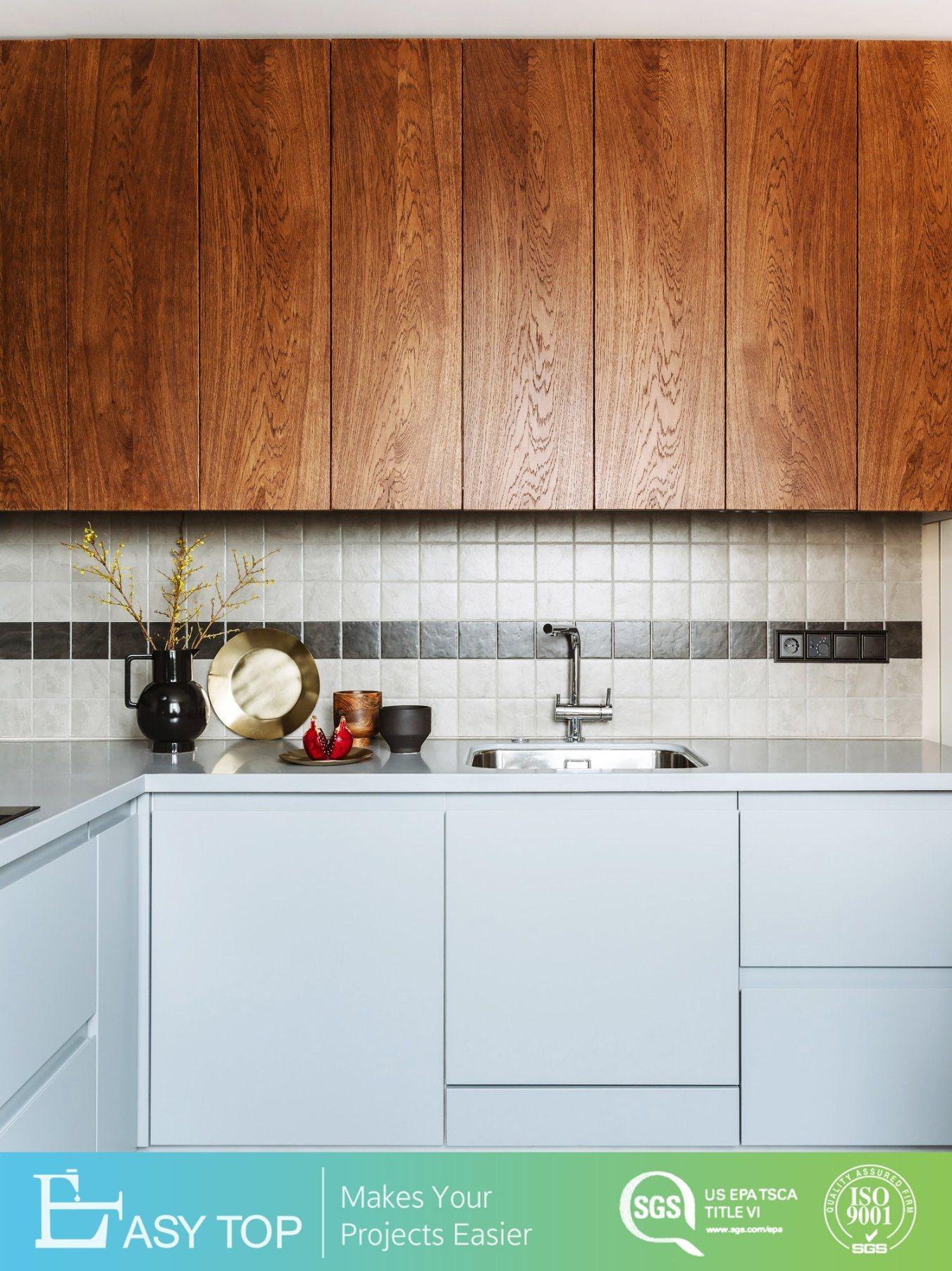 Flat Pack Wall Hanging Wholesale Wooden Design Modern Kitchen Set Cabinet