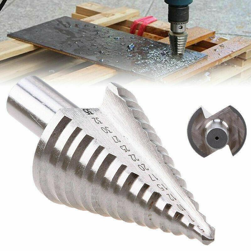 Titanium Step Drill Bit High Speed Steel Cutter 5-35mm 13 Step Sizes Cone Drill
