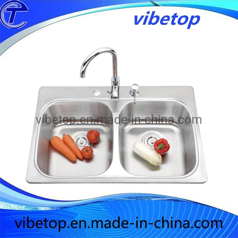 China Kitchen Ware Double Bowl Undermount Stainless Steel Kitchen