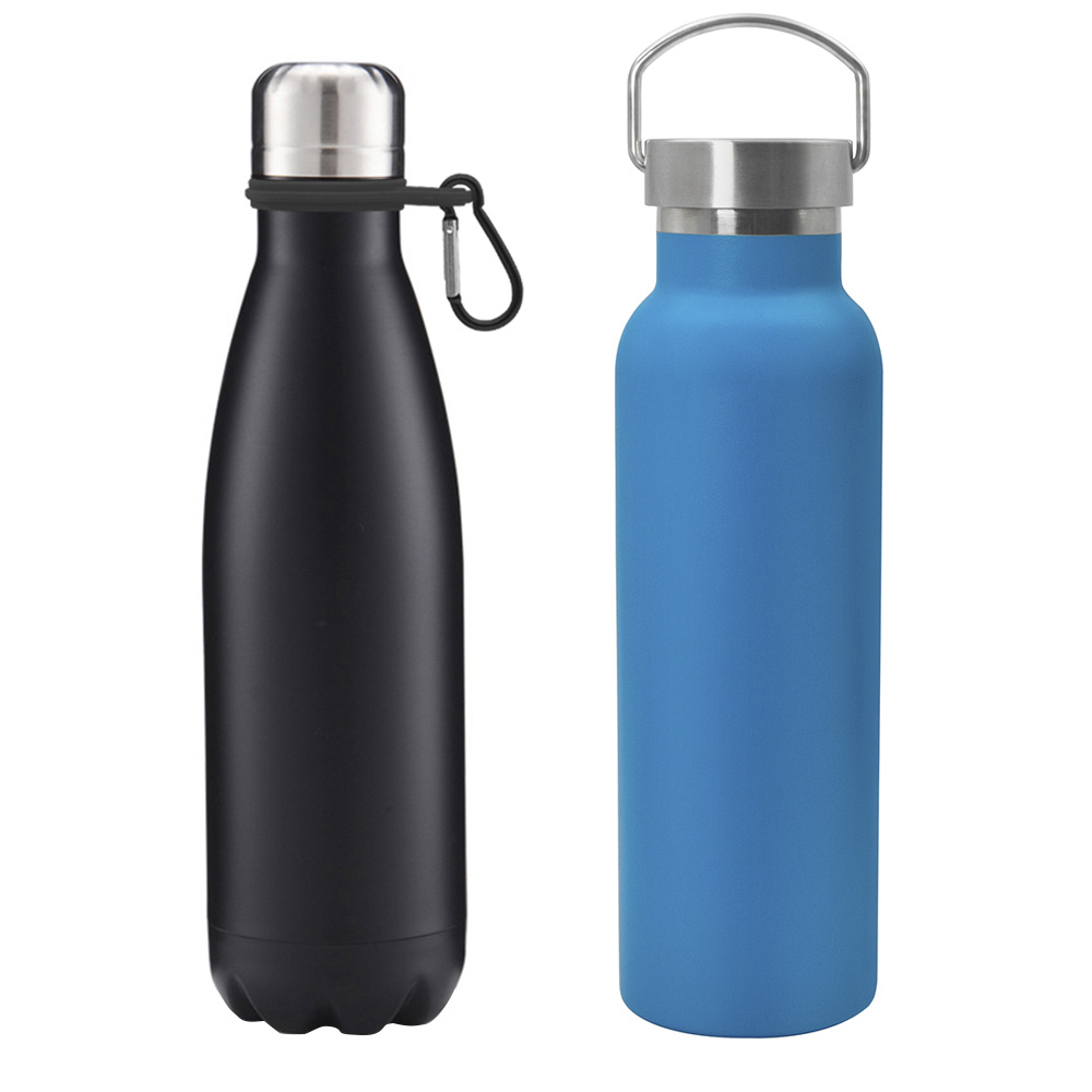 Double Wall 304 18/8 Stainless Steel Cola Shaped Water Bottle Vacuum Insulated Thermos Flask for Travel, Sports, Outdoor