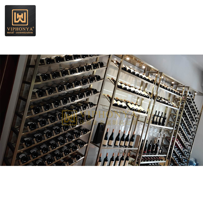 China Customized Stainless Steel Stackable Bottle Holder Shelf Wine Rack Photos Pictures Made In China Com