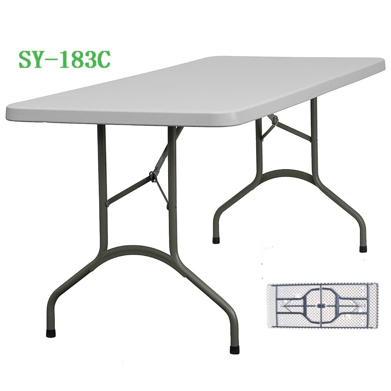6 Foot Blow Molded Outdoorfolding Table (SY-183C)