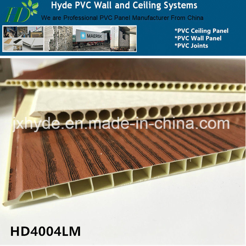 China Top Quality 400mm Width Marble & Wood Color PVC