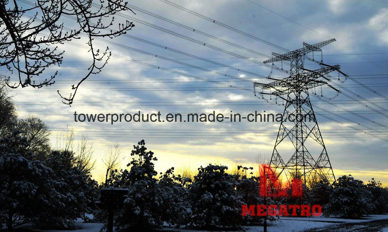 500kv Double Circuit Heavy Angle Tension Transmission Line Tower