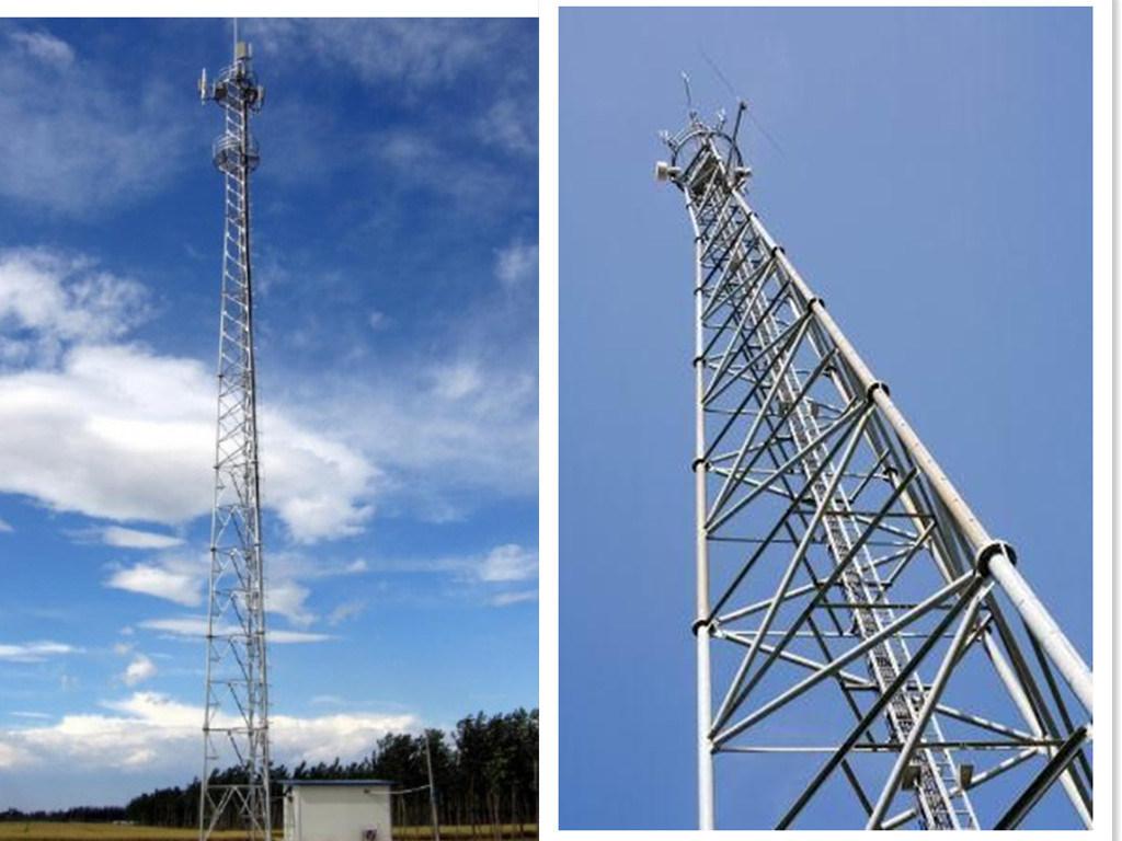 China Telecommunication 3 Legged Steel Lattice Radio Tower