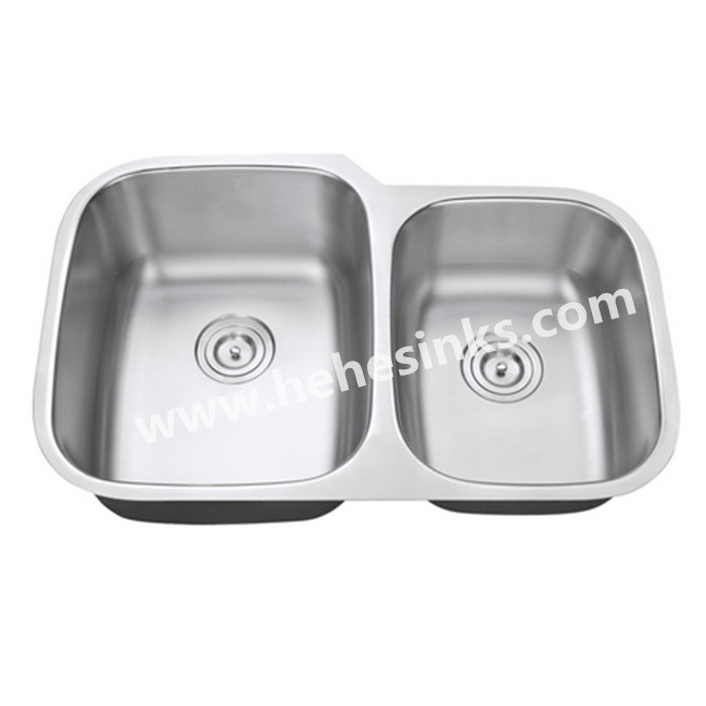 60/40 Double Bowl Stainless Steel Kitchen Sink with Cupc Approved (8153) pictures & photos