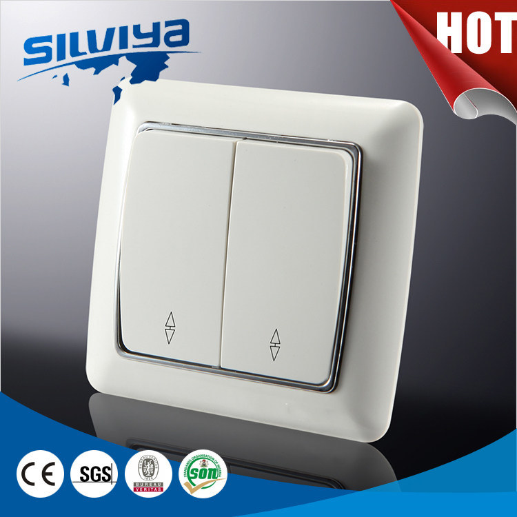 China European Standard Two Gang Two Way Wall Switch - China Light ...