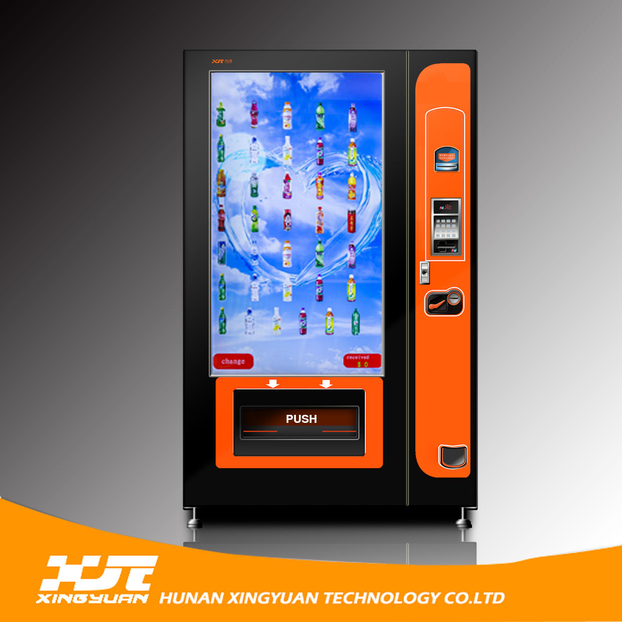 Large Touch Screen >> Hot Item Large Touch Screen Snack And Beverage Vending Machine Xy Dly 10c