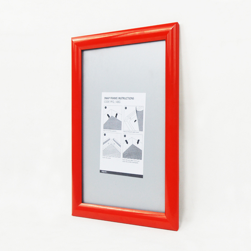 25mm Red Poster Frame for Advertising Posters