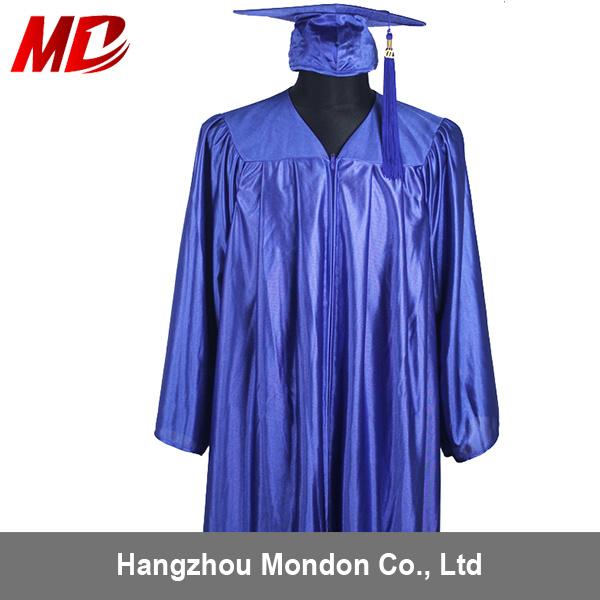 China Deluxe Shiny Royal Blue Graduation Hat and Robes - China ...