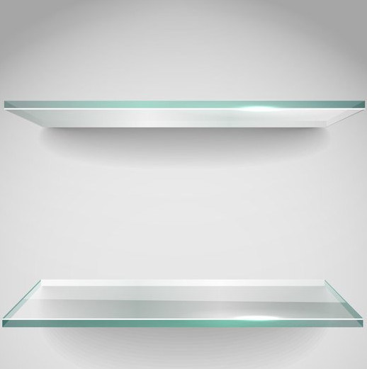 [Hot Item] 8mm Frosted Tempered Kitchen Cabinet Glass Shelves Clear/ Gray  Color with Ce Certificate