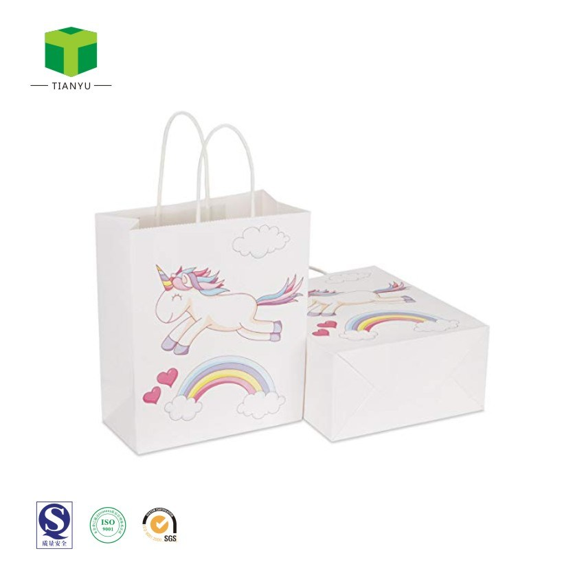 China Kraft Paper Gift Bags With Handles Party Bags For Kids China