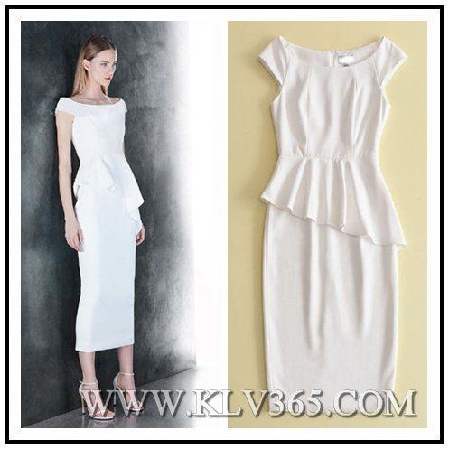 China Designer Fashion Ladies Formal Dress Ruffle Bandage Bodycon ...