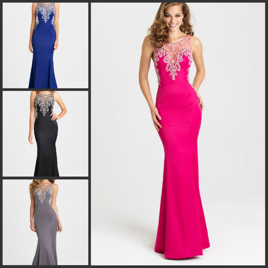 China Sheer Jewelry Party Formal Gowns Mermaid Bridesmaid Evening ...