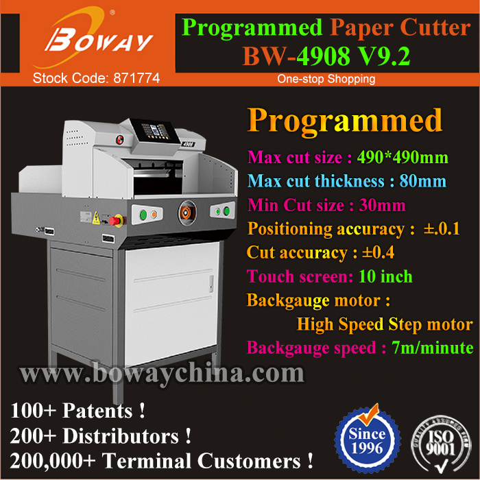 490mm 800 Sheets Touch Screen Electrical Program Control Guillotine Machine Cutting A4 Paper pictures & photos