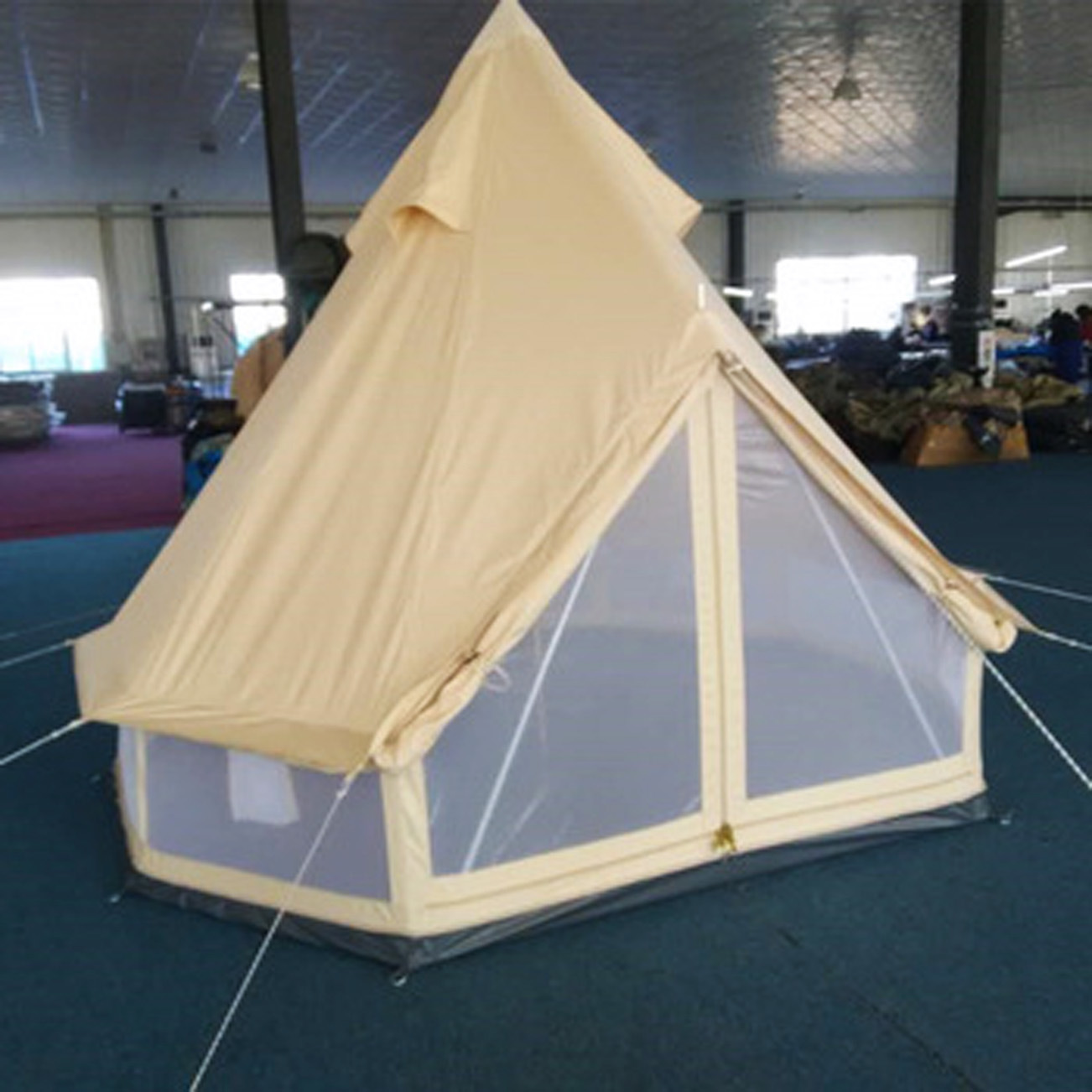 China Wholesale Camping Supplies 5*5m Biggest Family Tent Bell Tent