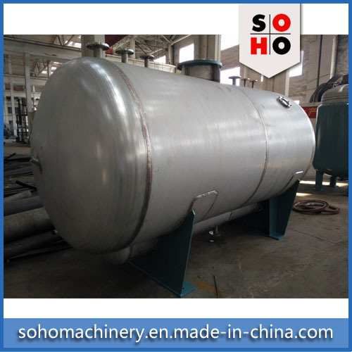 ISO Qualified Stainless Steel Horizontal Gas Storage Tank