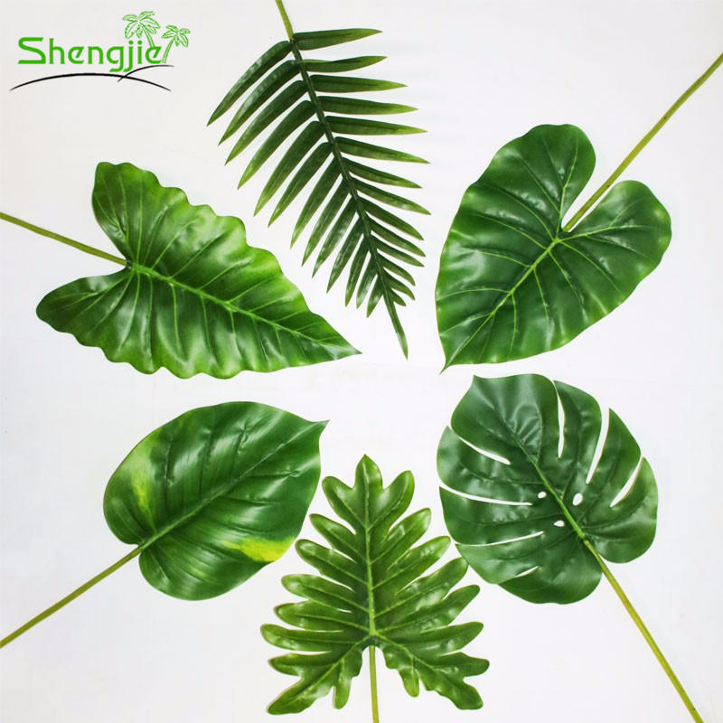 China High Simulation Real Touch Plastic Artificial Green Tropical Leaves China Plastic Green Leaves And Artificial Leaves Price