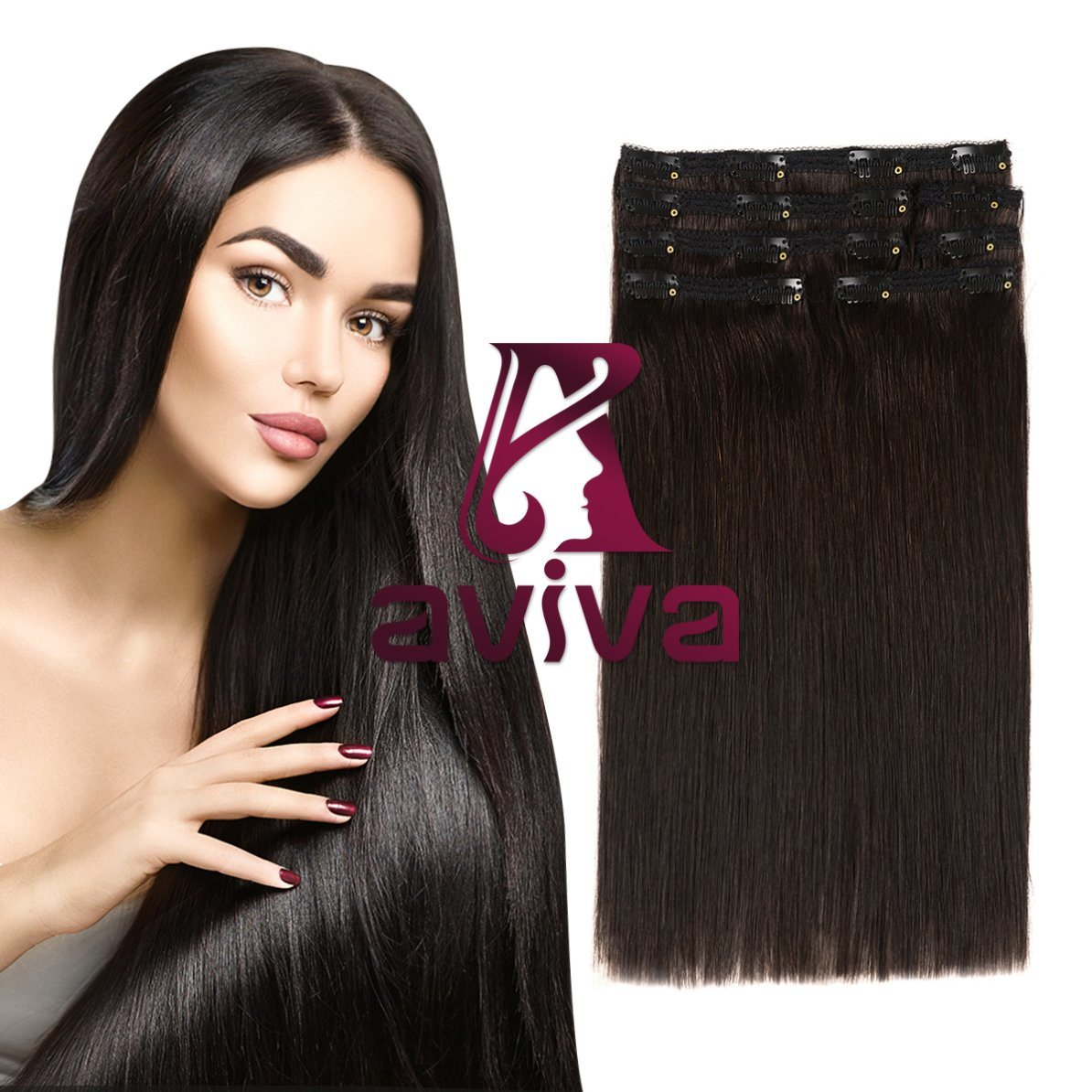 China Brazilian Hair Extension Clip In Human Hair Extension 14inch