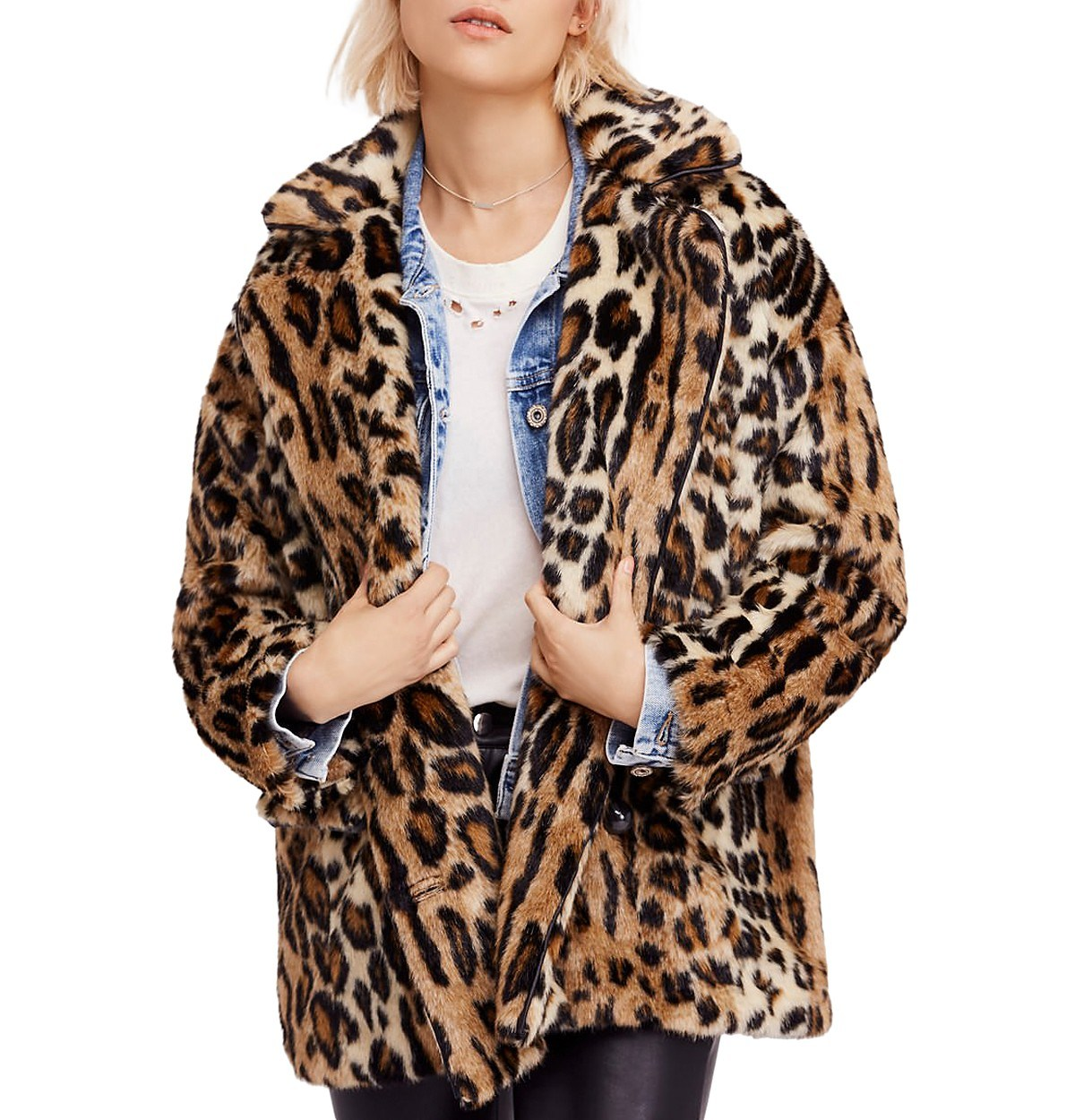 493ee2664a7ee Faux Fur Leopard Coat Winter Jackets with Customers Own Designs Wholesale