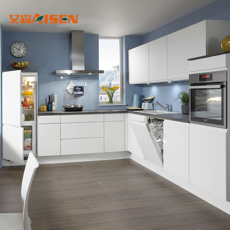 [Hot Item] Exclusive Custom Design Lacquer Wall Cabinet Small Kitchen Set  Lacquer Kitchen Cabinet