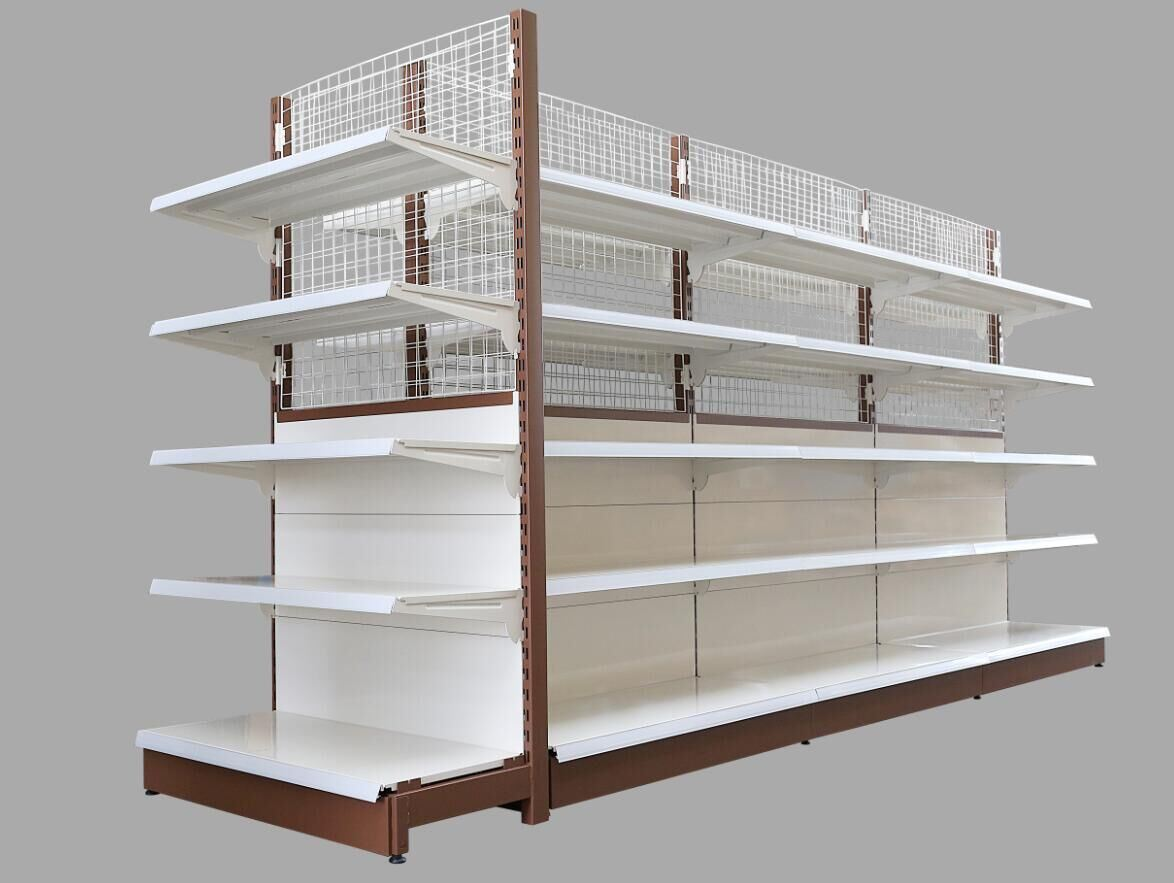 Hot Item Supermarket Steel Wall Wire Mesh Gondola Display Shelving