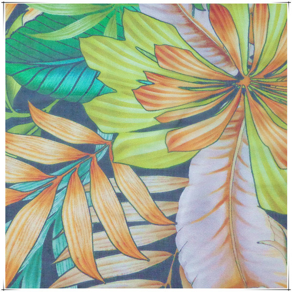 Printed Silk Fabrics for Chiffon with SGS Approved