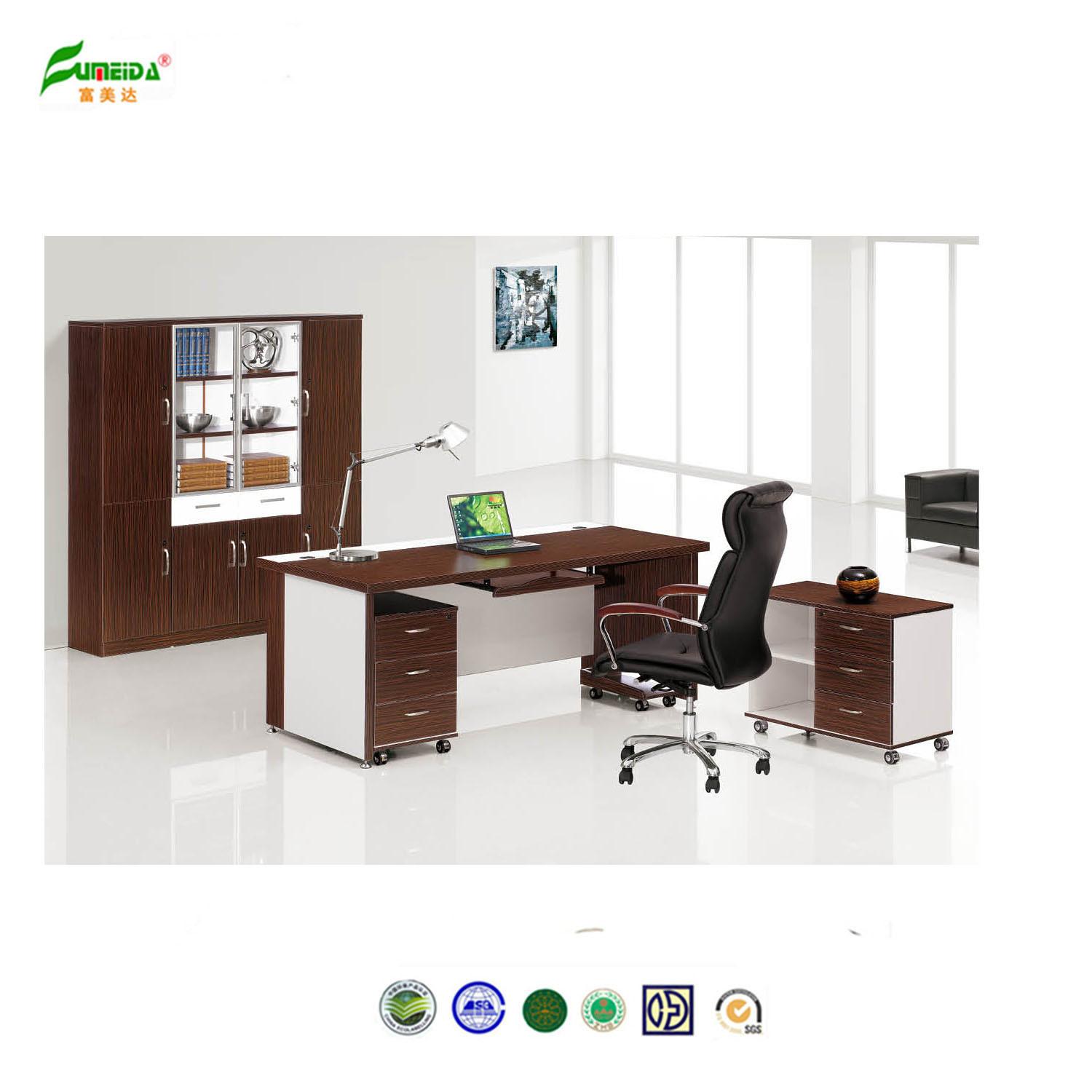 double office desk. China 2015 Wood Office Desk Connect By Double Steel Support Furniture - Furniture, S