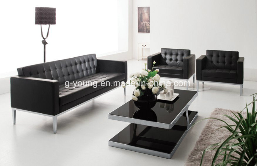 [Hot Item] Black Office Sofa Set for Office Furniture