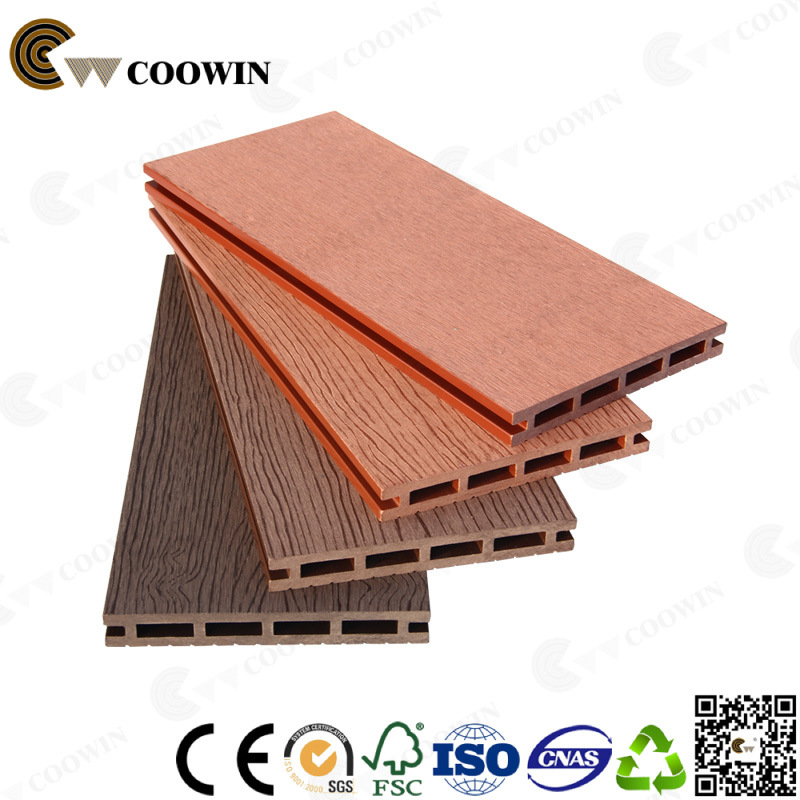 China Extruded Outdoor Waterproof Brown Pvc Wood Plastic Decking