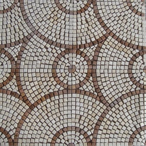 China Round Pattern Marble Stone Mosaic Floor Tile Hsm136 China