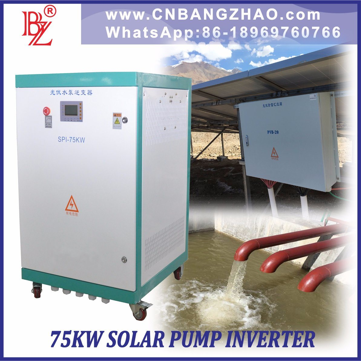55HP MPPT400-800V Solar Inverter Optional AC Input Function for Three Phase AC Pumps