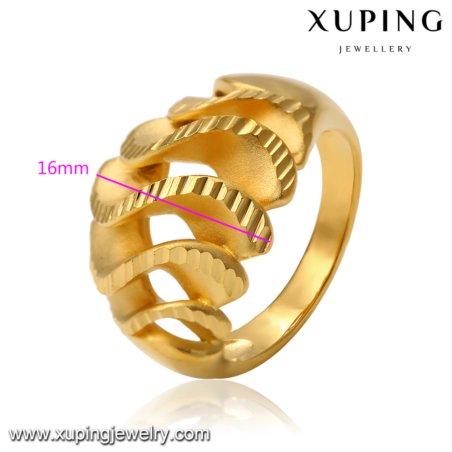 China 14342 Fashion Jewelry Simple Metal Alloy 24k Gold Ring ...