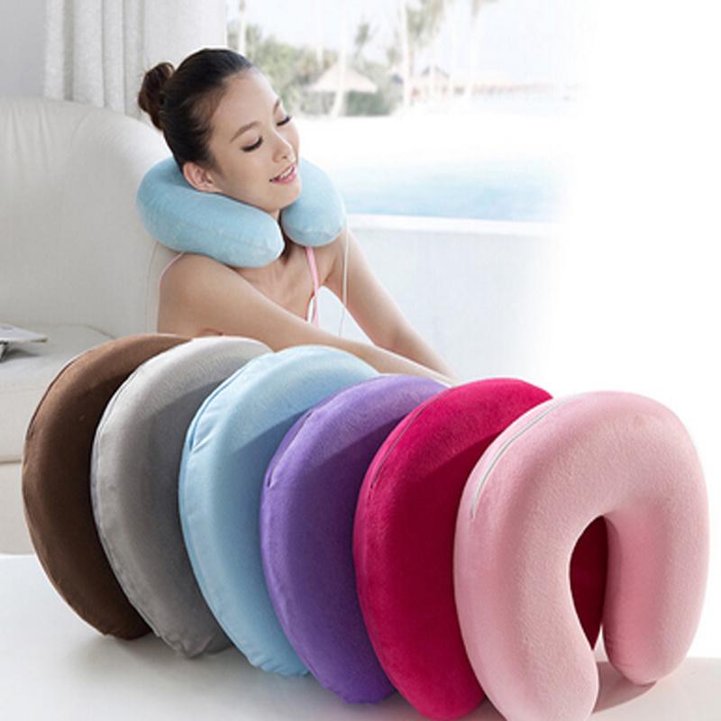 China Supply Memory Foam Travel Neck Pillow U Shape Neck Pillow