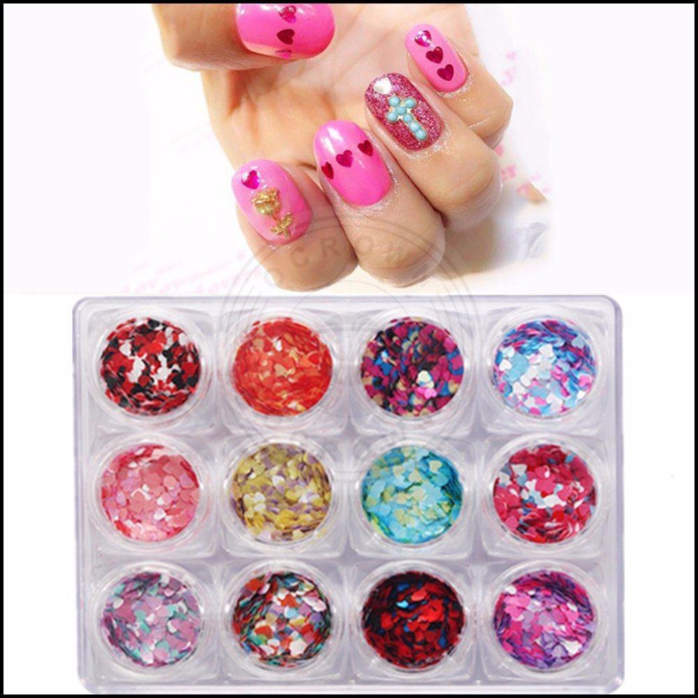 China Colorful Round 3D Nail Glitter, Mixed Size Glitter Flakes ...