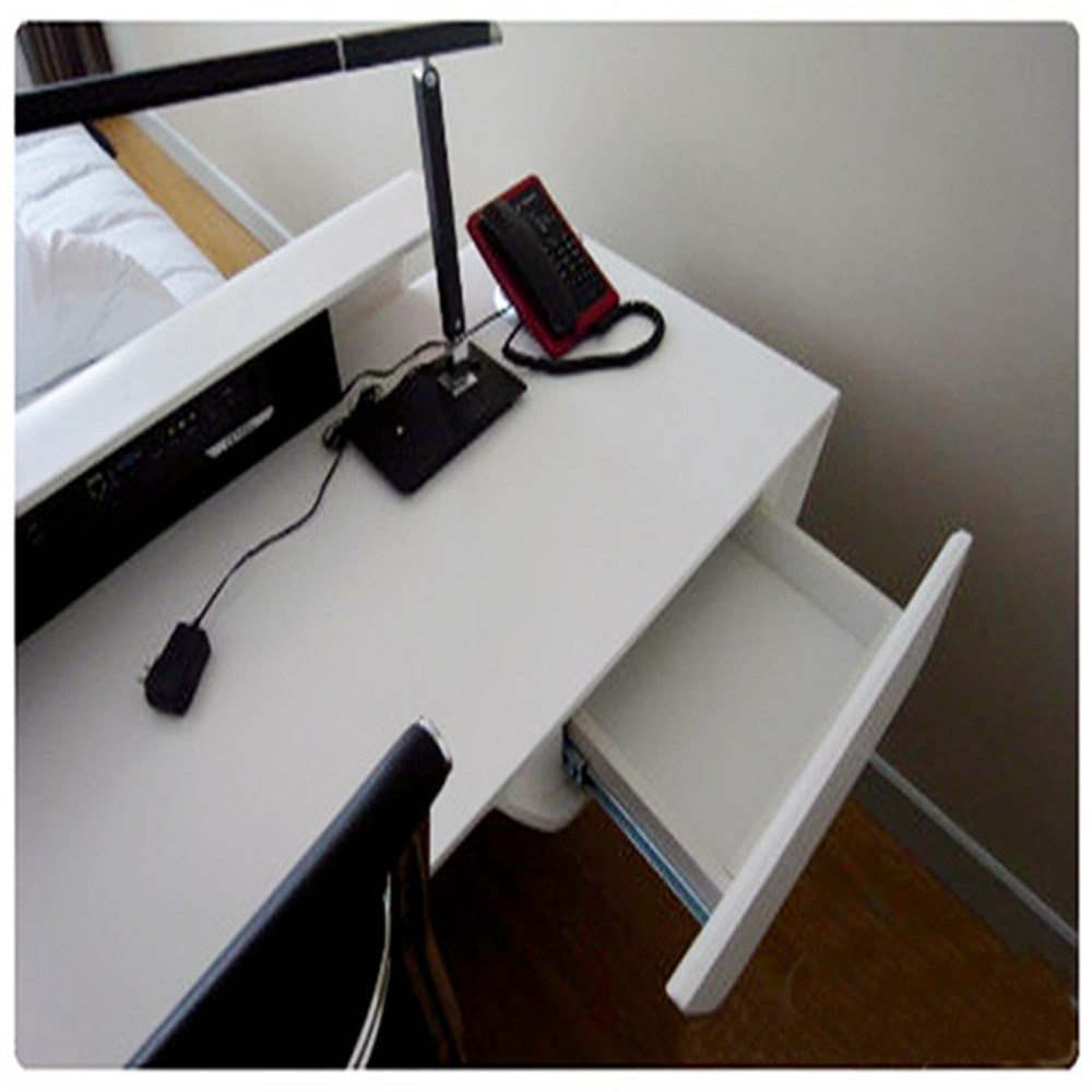Curved Shape Corian Office Desks Acrylic Workstations Computer Desk