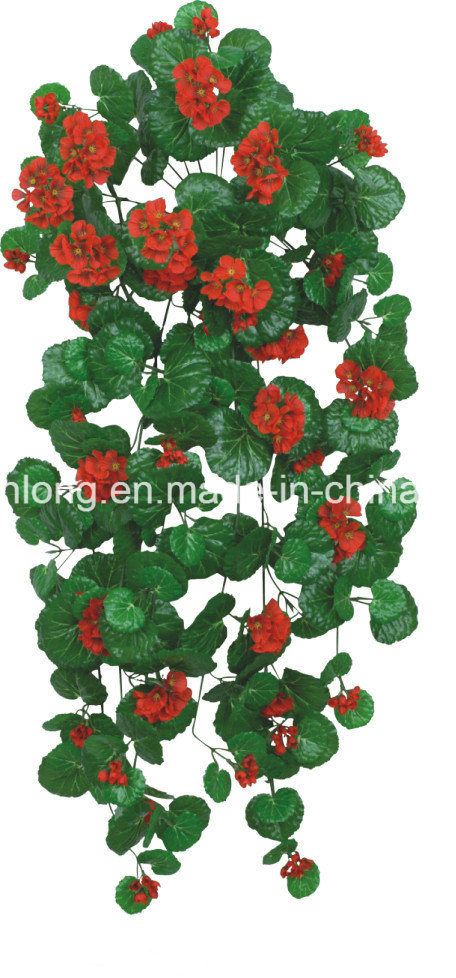 china artificial plant leaves vine begonia with flowers - china