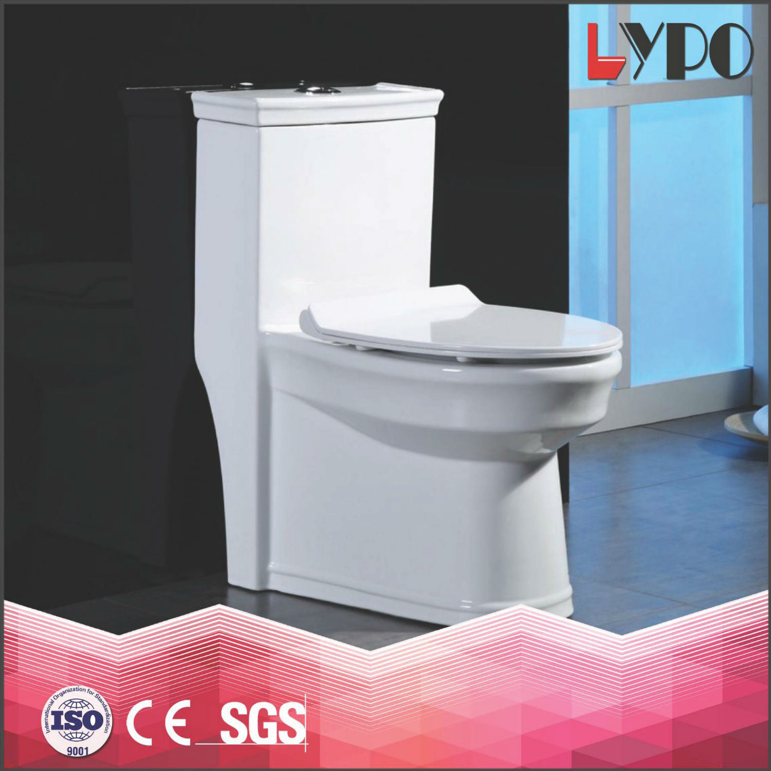 China Lp1309 Brazil One Piece Toilet Ceramic Wc Toilet Bowl, Export ...