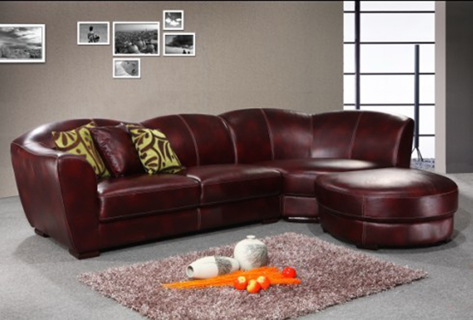- China Hotel Furniture Leather Curved Corner Sofa Sets - China Sofa