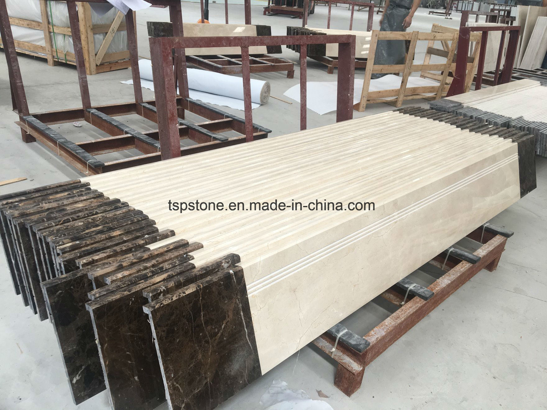 China Custom Design Granite Marble Stone Stair Tile For Indoor Decoration China Marble Stair Marble Tile