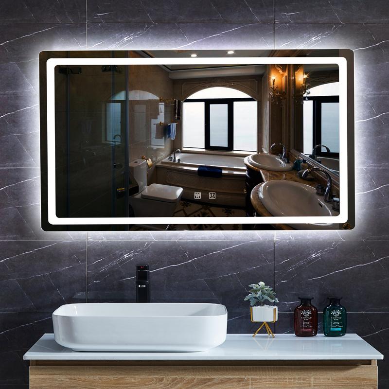 China Bathroom Mirror With Led Lights, Bathroom Mirror With Led Lights And Bluetooth