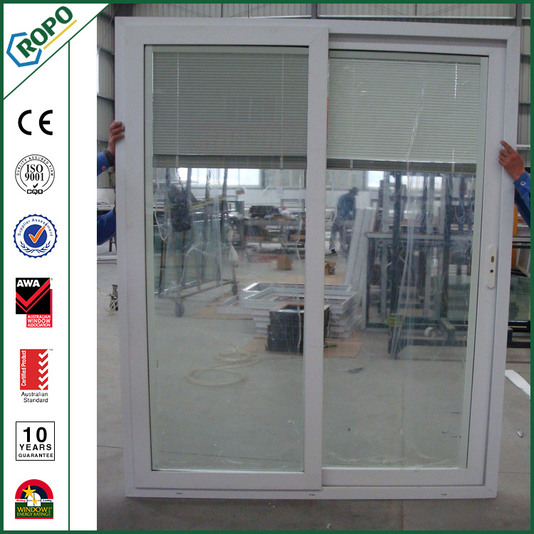 China Plastic Patio Door Pvc Sliding Door Blinds Inside China Upvc
