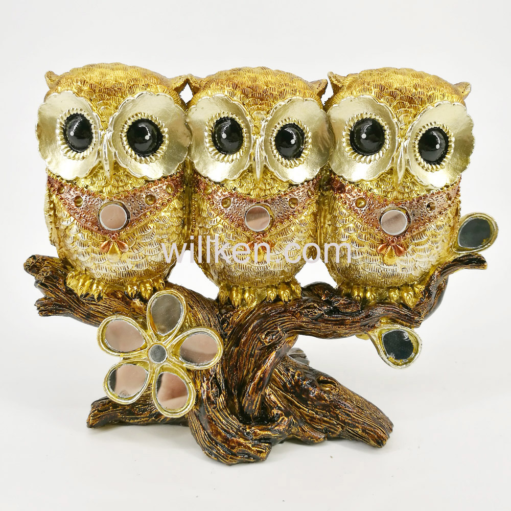 China Small Colorful Cute Owl Statues Decorative Sculpture for Home ...