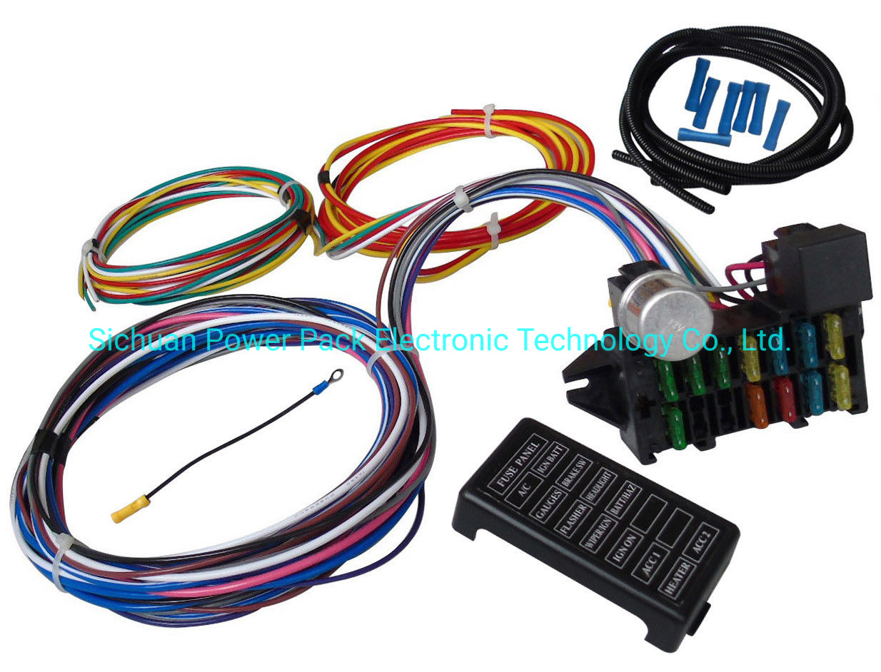 [FPWZ_2684]  China 12 Circuit Universal Wiring Harness Muscle Car Hot Rod Street Rod XL  Wires - China 12 Circuit Wire Harness, Wire Harness Kit | Best Hot Rod Wiring Harness |  | Sichuan Power Pack Electronic Technology Co., Ltd.