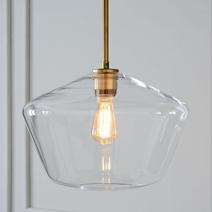 Hot Item Modern Edison Bulb Hanging Light Pendant Ceiling Lamp With Clear Glass Shade For Loft Bar Kitchen