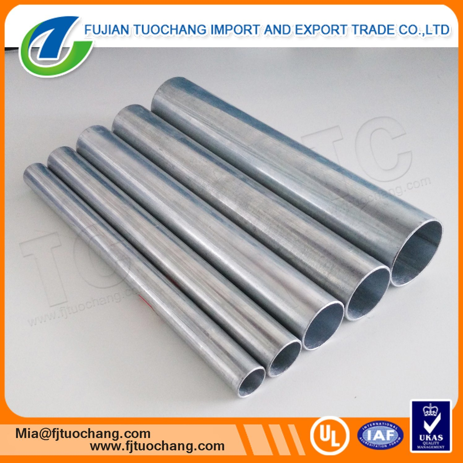 China Hot Dip Galvanized Electrical Cable Wiring Conduit With Metal Steel Pipe