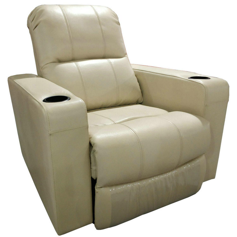 Hot Item Cream Color Living Room Furniture Recliner Leather Sofa K10