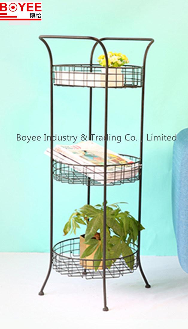 China 3 Tier Wire Frame Metal Kitchen Spice Rack, Countertop Storage ...