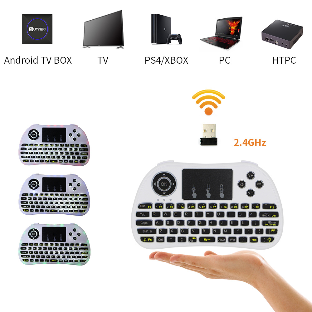China I8 Mini 2.4GHz Wireless Touchpad Keyboard with Mouse for PC, Pad, xBox  360, PS3, Google Android TV Box, HTPC, IPTV (White) - China Mini Keyboard, Android  TV