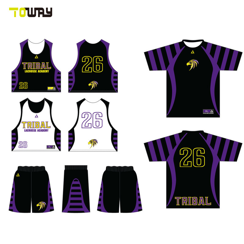 China Breathable Quick-Drying Custom Sublimated Lacrosse Uniforms ... 6f84931f6